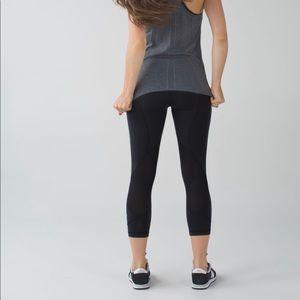 Lululemon Pace Rival Crop Black Leggings Pants